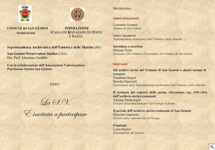 Presentazione Portale2. Invito